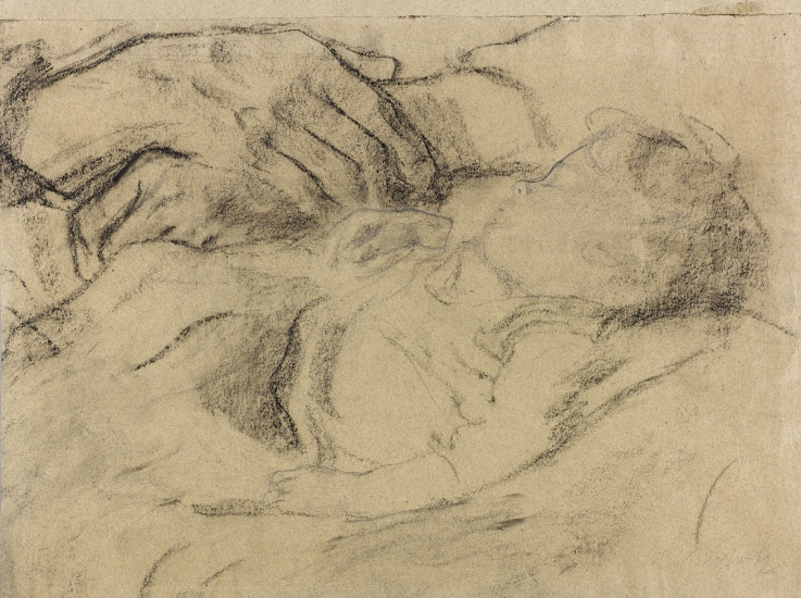 kollwitz Sleeping Child in the Lap of her Mother
