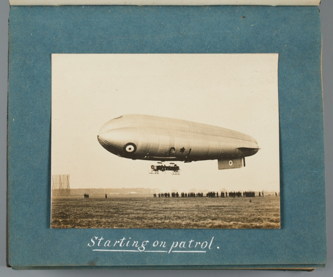 a british zeppelin in the air