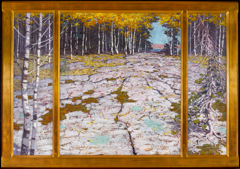 Lawren S. Harris. Autumn Forest with Glaciated Bedrock, Georgian Bay
