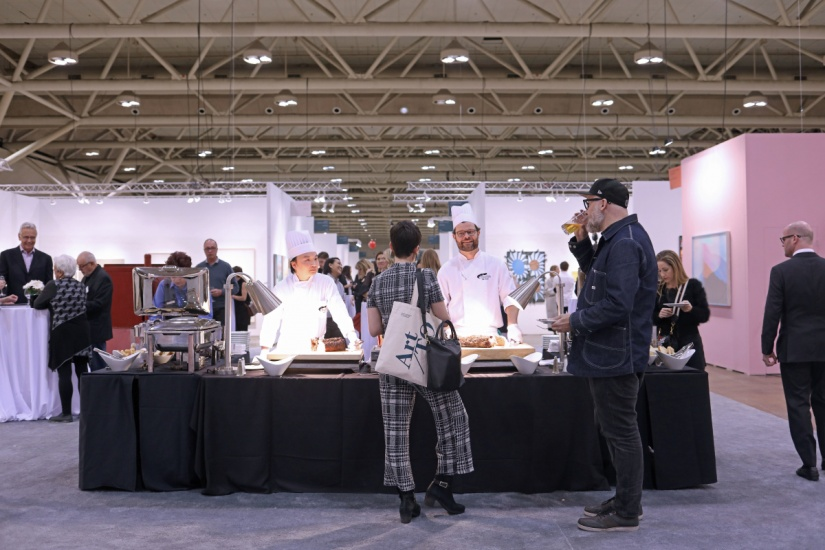 a food station at art toronto