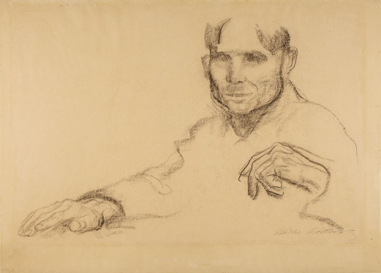 Käthe Kollwitz, Portrait of a Man