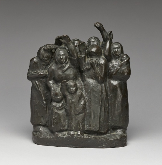 Käthe Kollwitz, Soldiers' Wives Waving Goodbye