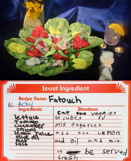 fatouch salad made of paper