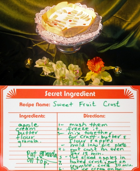 sweet fruit crust made of paper