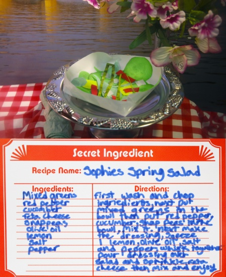 spring salad made of paper