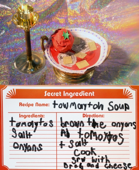 tomato soup made of paper