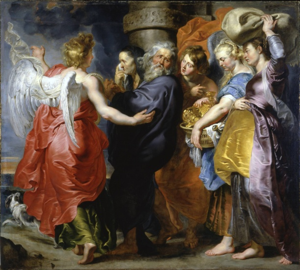 Peter Paul Rubens, The Flight of Lot and his Daughters leaving Sodom