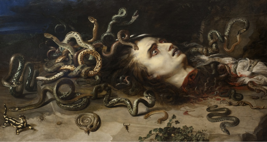 oil painting of the myth of Medusa by Peter Paul Rubens