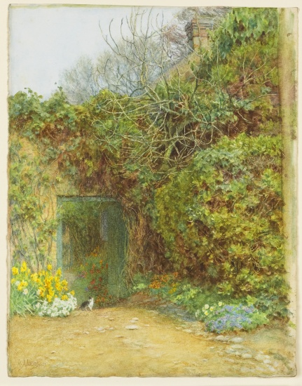 Helen Paterson Allingham, The Dairy Door, Farringford, Lord Tennyson's Home