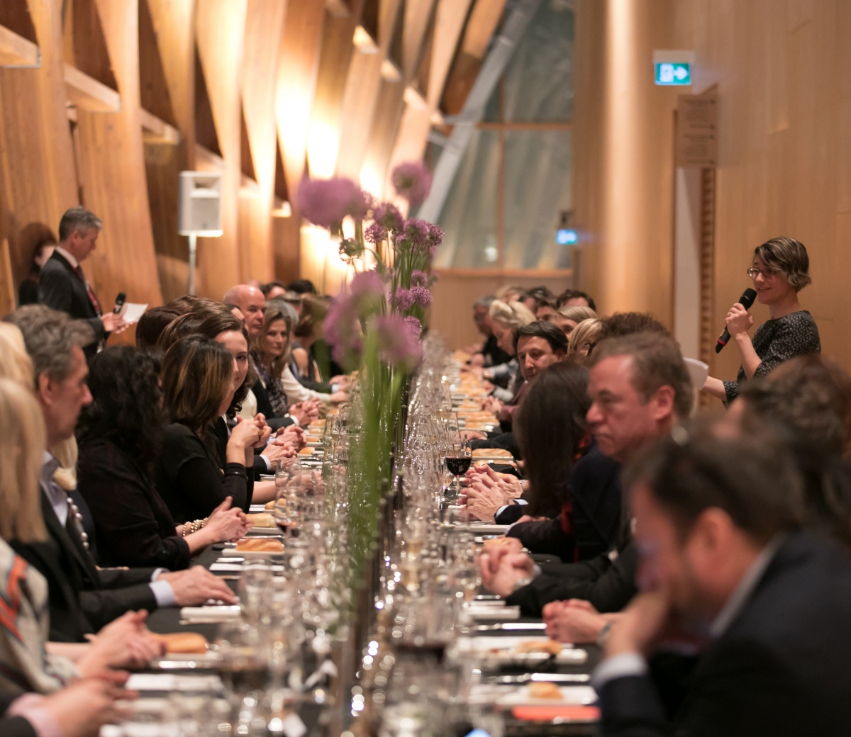 Corporate event dinner in Galleria Italia