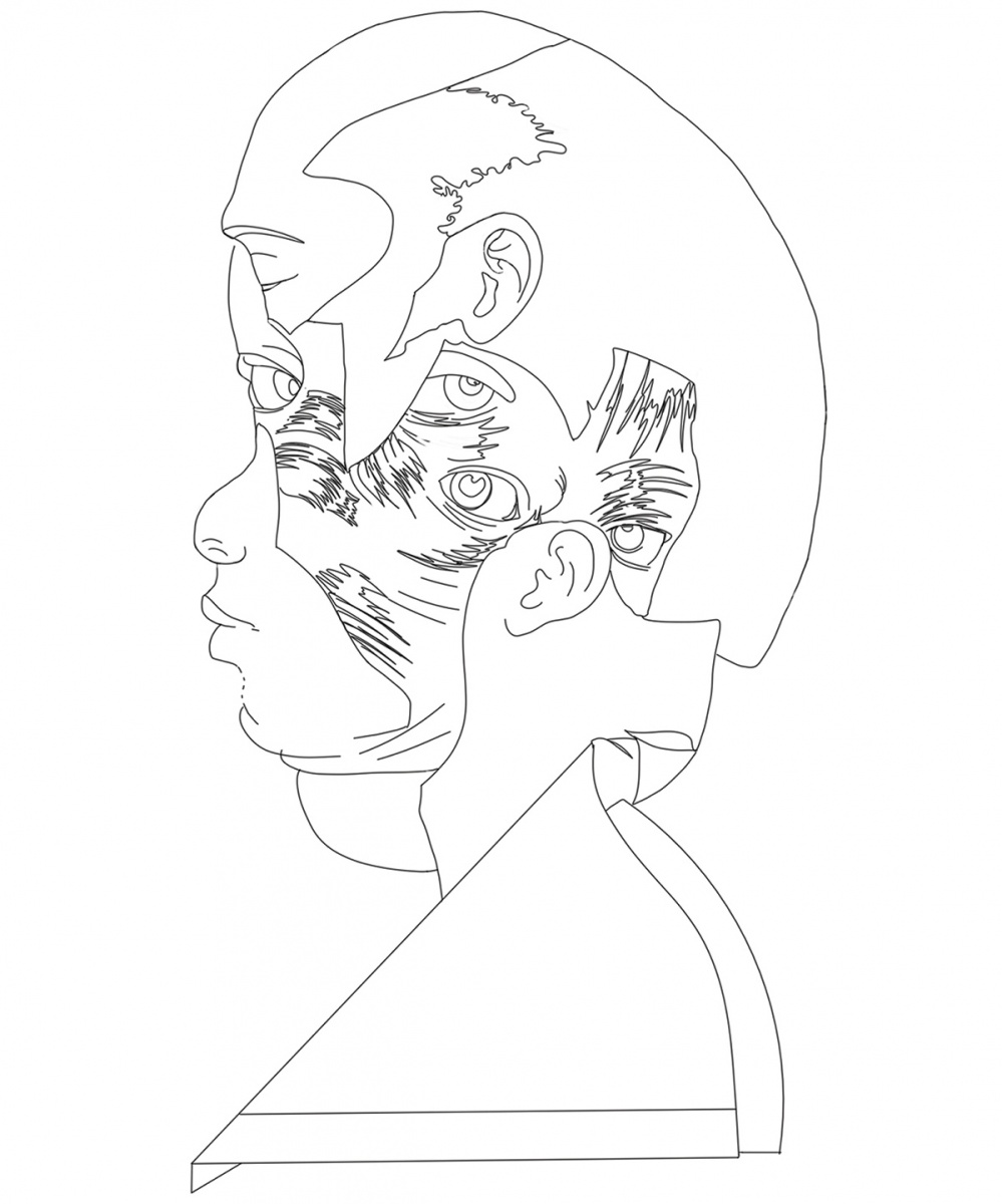 line drawing of Wardell Milan's Michael Ross